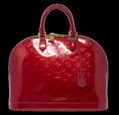 Louis Vuitton Red Monogram Vernis Alma GM