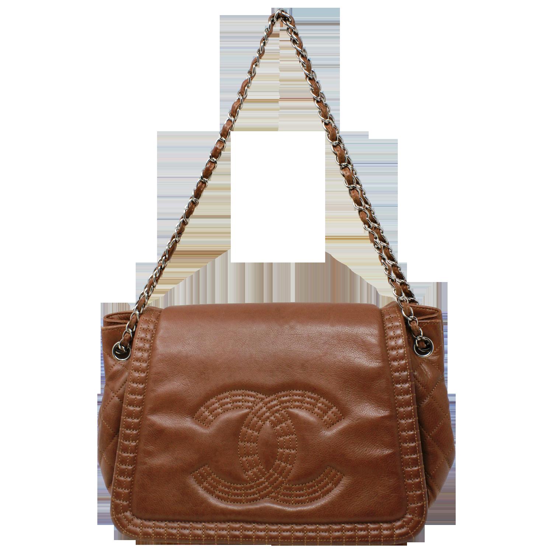 Chanel Brown Paris-Bombay Coco Bengal Accordion Bag