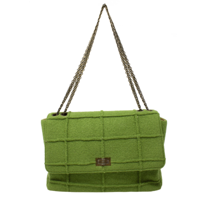 Chanel Limited Edition Millennium Forest Green Mademoiselle Jumbo Flap Bag