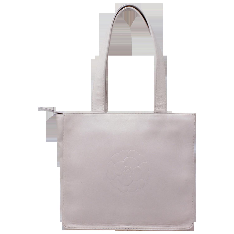 Chanel Pink Camellia & CC Logo Bag