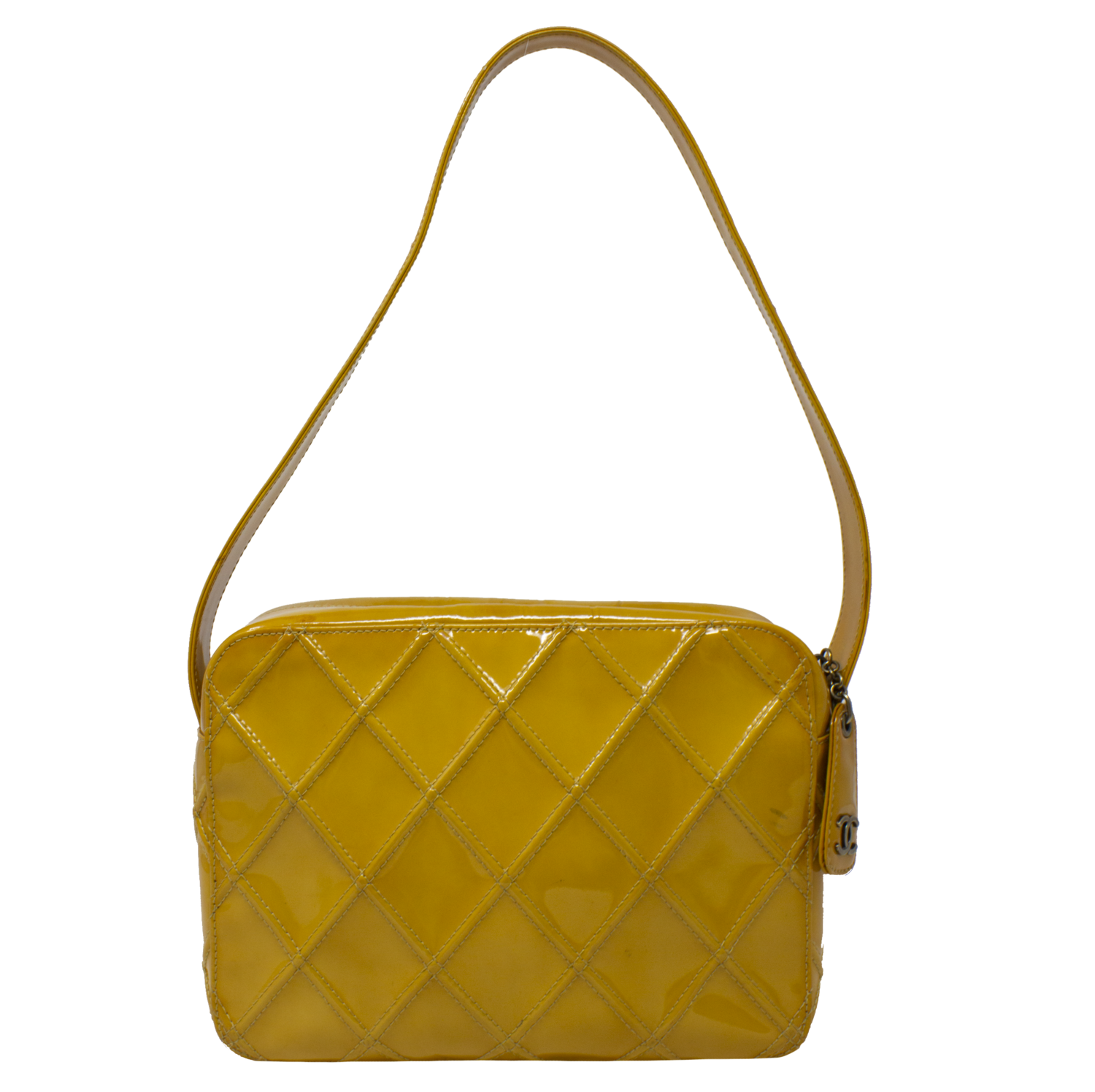 Chanel Yellow Quilted Patent Bag
