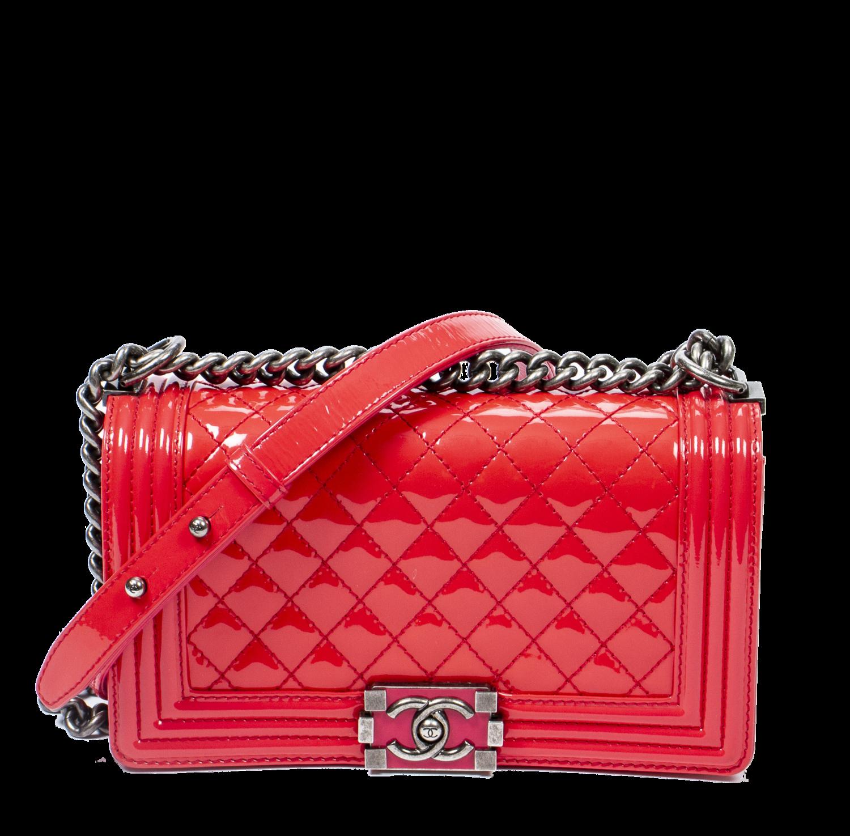 Chanel Limited Edition Medium Lipstick Pink Patent Boy Bag