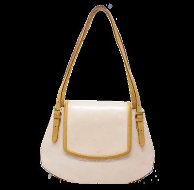 Louis Vuitton Marshmallow Monogram Vernis Biscayne Bay GM Bag