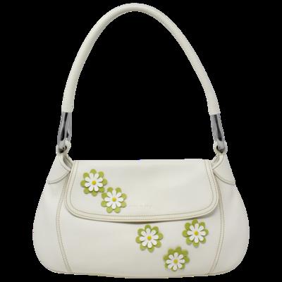 Prada White Floral Shoulder Bag