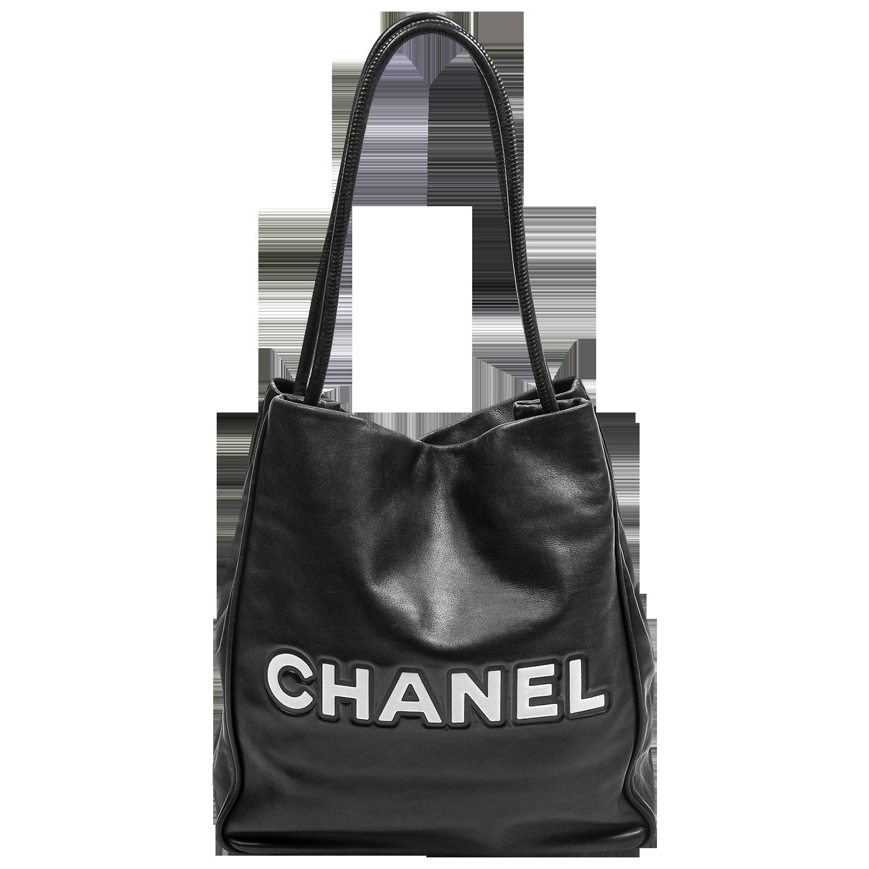 Chanel 2000s Black Logo Tote