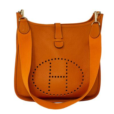 Hermes Orange Clemence Evelyne 33