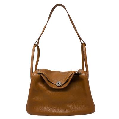 Hermès Brown Clemence Lindy 34