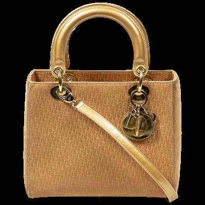 Christian Dior Gold Diorissimo Logo Lady Dior