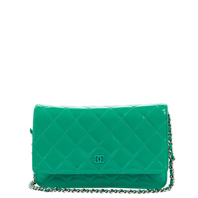 Chanel Cruise 2013 Green Patent Leather WOC