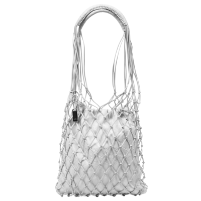 Gucci by Tom Ford Leather Net GG Canvas Shoulder Tote