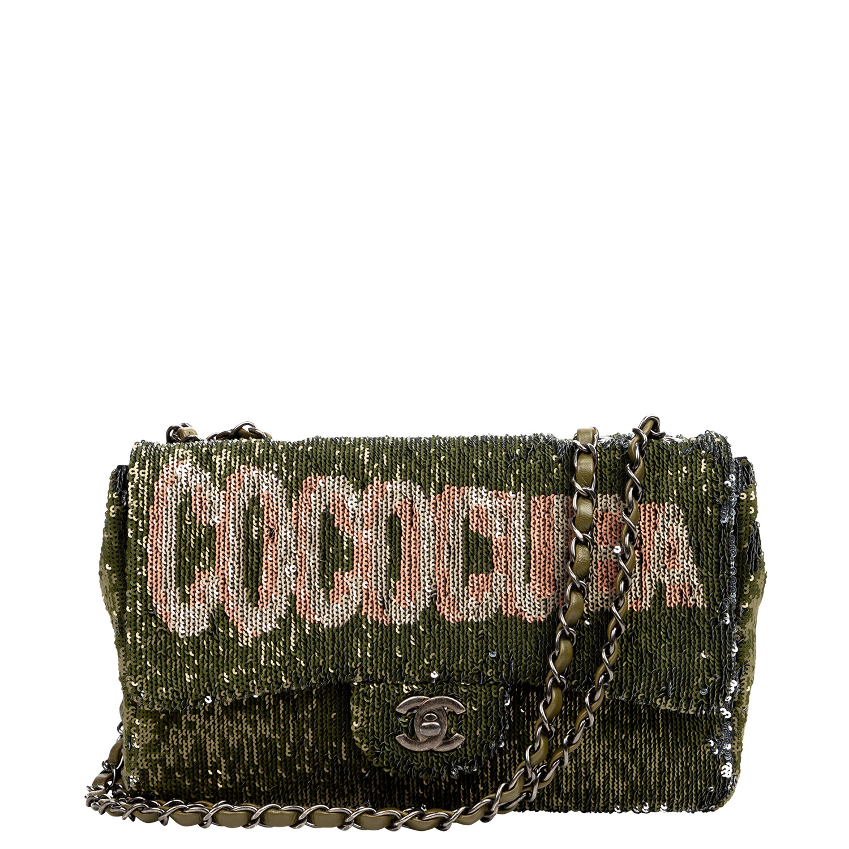 Chanel 2017 Cruise Collection Green Coco Cuba Flap Bag