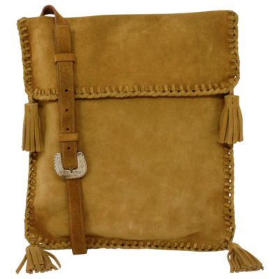 Saint Laurent Suede Tassel Crossbody Bag