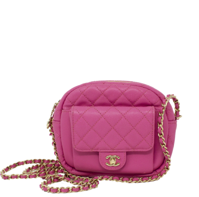 Chanel Pink 2019 Cruise Collection CC Day Camera Bag