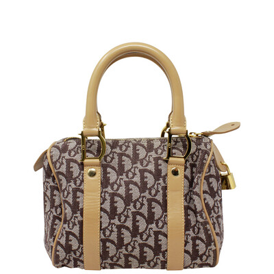Christian Dior Canvas Diorissimo Trotter Top Handle