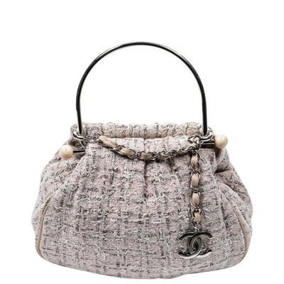 Chanel Limited Edition Pink Tweed Handle Bag