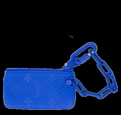 Louis Vuitton x Virgil Abloh Blue Monogram Pochette Cle