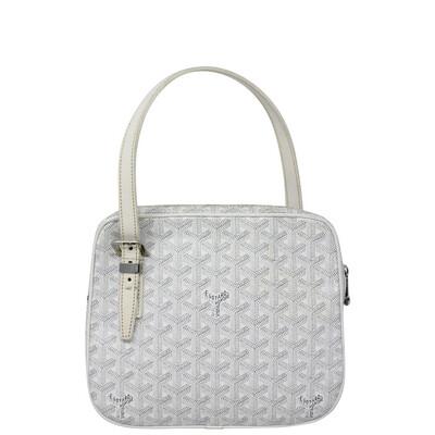 Goyard White Goyardine Yona PM Bag