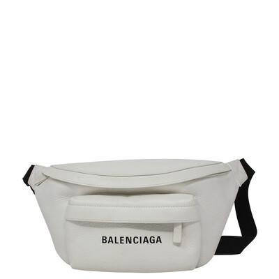 Balenciaga White Logo Belt Bag