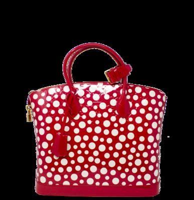 Louis Vuitton x Yayoi Kusama Limited Edition Red Infinity Dots Monogram Vernis Lockit MM Bag