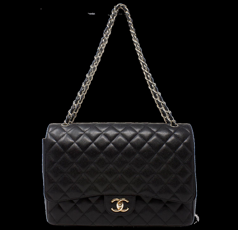 Chanel Maxi Black Caviar Classic Double Flap Bag w/ Tags