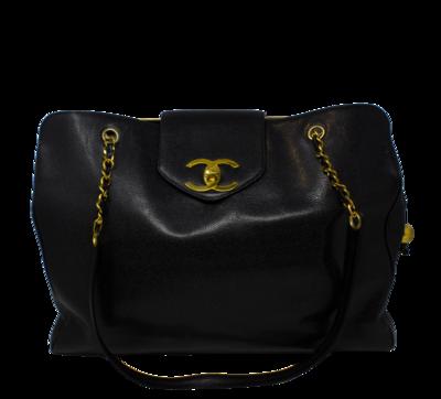 Chanel Rare Black Caviar XL Supermodel Weekender