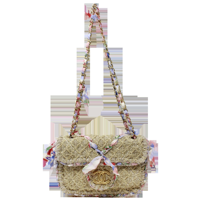 Chanel 2010 Coco Country Runway Beige Tweed Flap Bag