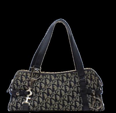 Christian Dior Navy Diorissimo Trotter Boston Shoulder Bag