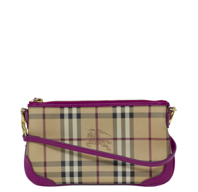 Burberry Fuschia Peyton Small Crossbody Bag