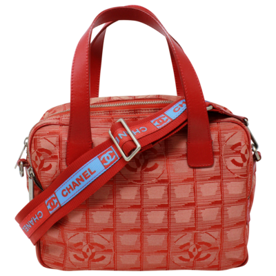 Chanel Small Red Travel Ligne Bag w/ Strap