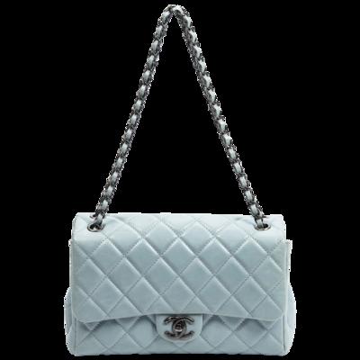 Chanel Light Blue Medium Classic Single Flap Bag