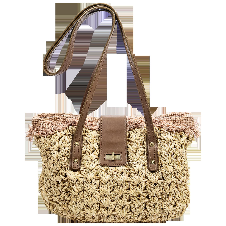 Chanel Beige CC Turn-lock Basket Weave Tote