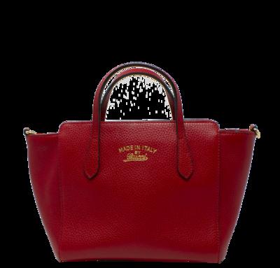 Gucci Red Mini Tote w/ Strap