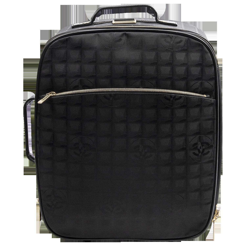 Chanel Black Travel Ligne Carry On Trolley