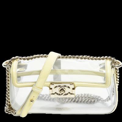 Chanel Pastel Yellow PVC Flap Bag
