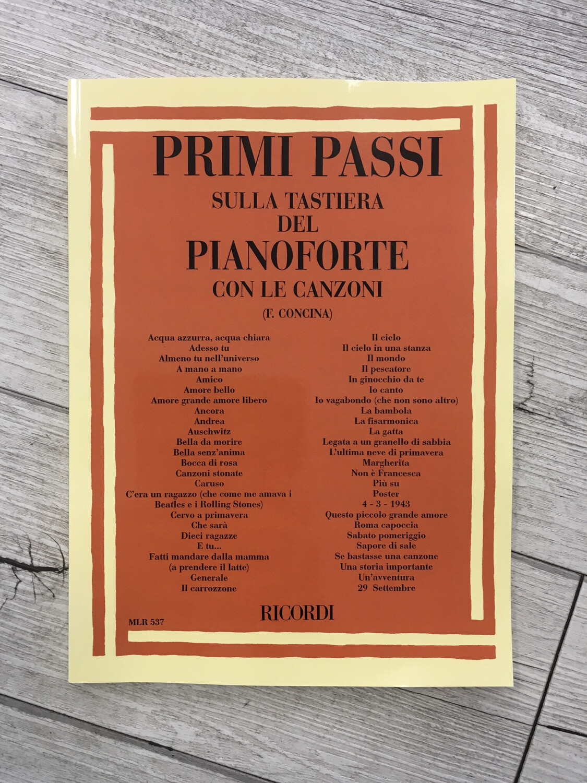 F. Concini - Primi Passi Sulla Tastiera Del Pianoforte Con Le Canzoni