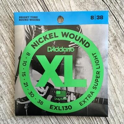 D'ADDARIO XL EXL130 - Nickel Wound 08/38