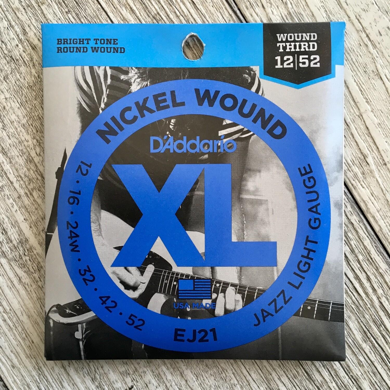 D'ADDARIO XL EJ21 - Nickel Wound 12/52