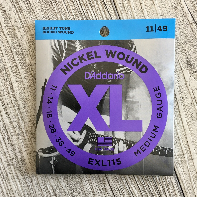 D'ADDARIO XL EXL115 - Nickel Wound 11/49