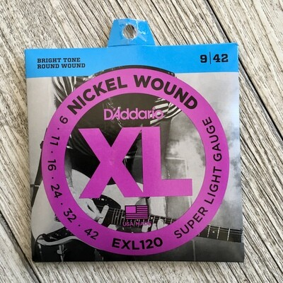 D'ADDARIO XL EXL120 - Nickel Wound 09/42