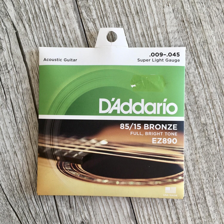 D'ADDARIO EZ890 - American Bronze Super Light Gauge 09/45