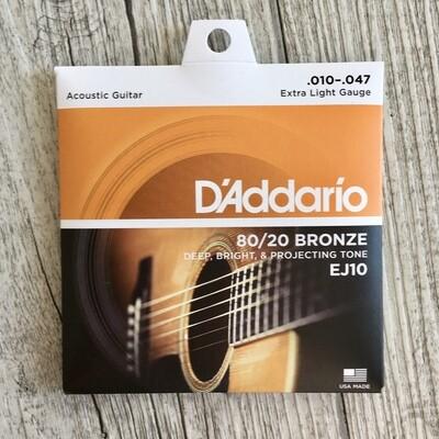 D'ADDARIO EJ10 - 80/20 Bronze 10/47