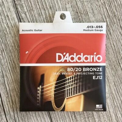 D'ADDARIO EJ12 - 80/20 Bronze 13/56