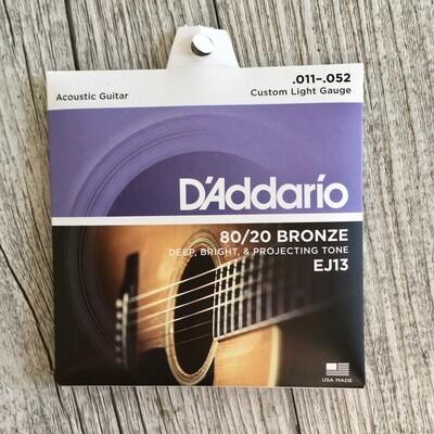 D'ADDARIO EJ13 - 80/20 Bronze 11/52