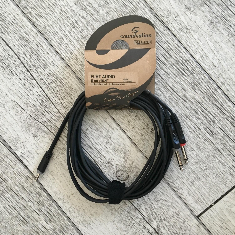 SOUNDSATION SJJJ60BK - JACK stereo JACK (3,5) 5 m
