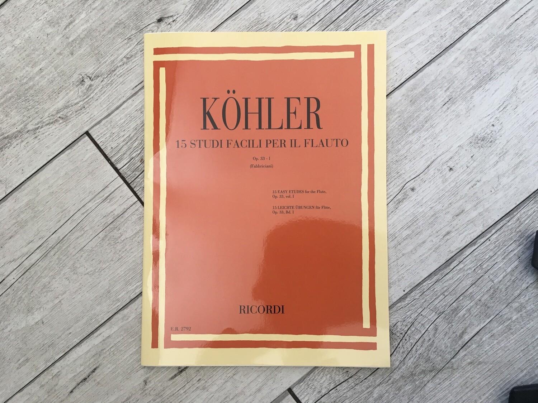 KOHLER - 15 studi facili per il flauto Op. 33-1