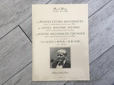 MARCEL MOYSE - 24 Petit etudes melodique pour flute