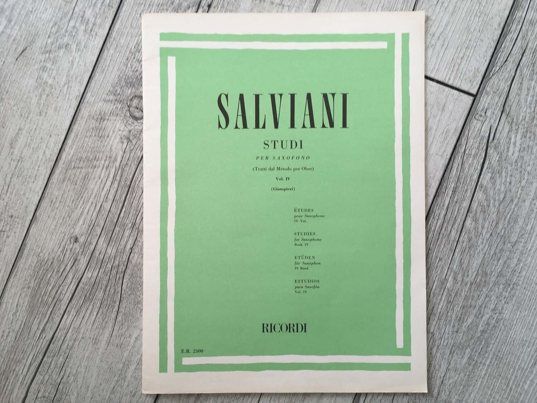 SALVIANI - Studi Per Saxofono Vol. 4