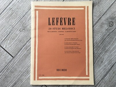 LEFÈVRE - 20 studi melodici per clarinetto e saxofono