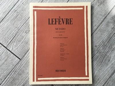 LEFÈVRE -Metodo per clarinetto Vol. 3
