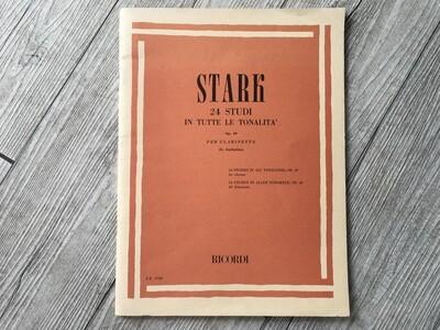 STARK - 24 studi in tutte le tonalità per clarinetto Op. 49